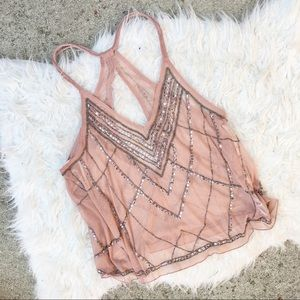 Blush Embellished and Beaded Top
